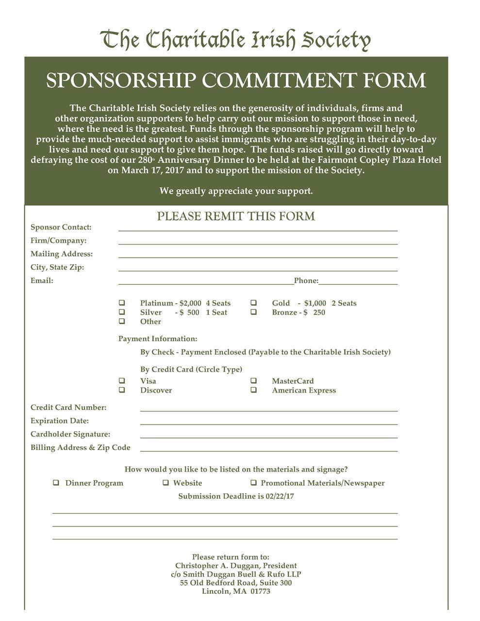 Charity Sponsor Form scv charity chili cookoffscv charity chili – Charity Sponsor Form Template